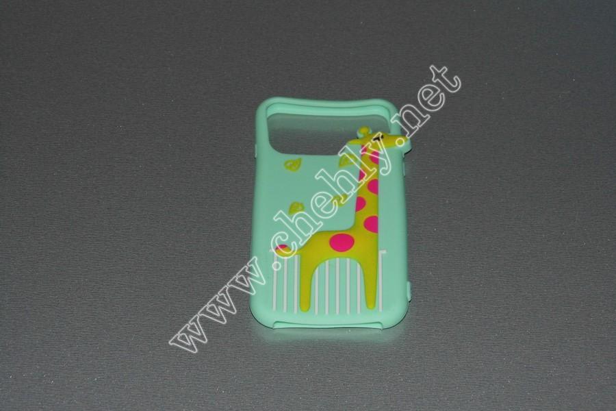 Универсальный силиконовый чехол для iPhone с диагональю  4,7 дюймов  Жираф