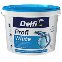 """Краска латексная акриловая для стен и потолков """"Profi White"""" ТМ """"Delfi"""" белый матовый 14 кг"""