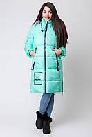 Зимняя куртка-пальто для девочки с меховой отделкой на капюшоне (5 цветов)