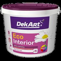 """Краска интерьерная """"Eco Interior"""" ТМ """"DekArt"""" белый матовый 1,2 кг"""