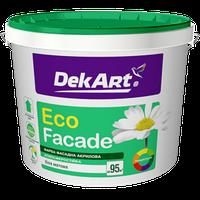 """Краска фасадная """"Eco Facade"""" ТМ """"DekArt"""" белый матовый 1,2 кг, фото 1"""