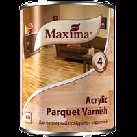 """Лак паркетный полиуретан-акриловый """"Acrylic parquet varnish"""" ТМ """"Maxima"""" бесцветный глянцевый 0,75 л, фото 1"""