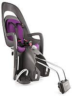 Велокресло детское HAMAX Caress на раму серое/фиолетовое