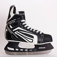 Коньки хоккейные Inter Fun Expert. Размер:39, 40, 41, 42, 43, 44, 45, 46.