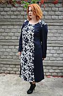 Женское платье больших размеров (60, 62, 64, 66))