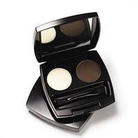 Двойной набор для дизайна бровей, тени для бровей, Avon Mark, Эйвон Марк, цвет Soft Brown, Темный, 87462