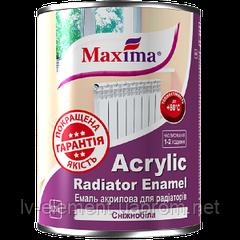 """Эмаль акриловая для радиаторов отопления """"Acrylic radiator enamel"""" ТМ """"Maxima"""" белый глянцевый 0,4 л"""
