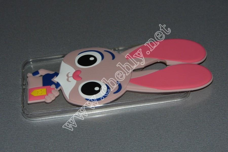 Силиконовый 3D чехол  Кролик Джуди Хопс Зверополис Meizu M5