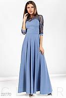 Роскошное длинное платье. Цвет сине-черный.