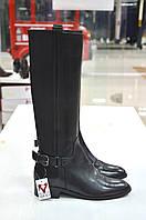 Сапоги черные кожаные с резинками Roberta Lopes к.-512