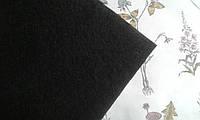 Фетр 1мм, 20*25см, середня жорсткість - чорний колір