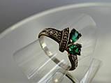 Молодежное кольцо с зеленым цирконом, фото 5