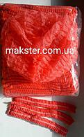 Шапочка гармошка одноразовая красная (100 шт)