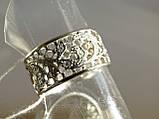 Кольцо ажурное с фианитами, фото 2