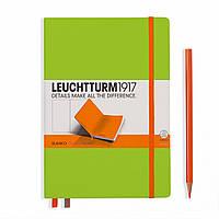 Блокнот Leuchtturm1917 двухцветный Средний (A5) Лайм-Оранжевый с Чистыми листами (14,5х21 см) (343149), фото 1