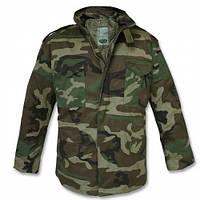Куртка мужская зимняя М-65 с подстежкой MIL-TEC камуфляж вудланд поликотон Германия
