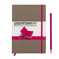Блокнот Leuchtturm1917 двухцветный Средний (A5) Серо-Розовый с Чистыми листами (14,5х21 см) (343151), фото 1