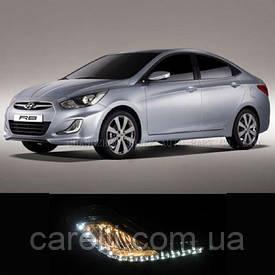 DRL штатные дневные ходовые огни LED- DRL для Hyundai Accent 2011+