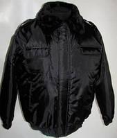 Куртка утепленная с меховым воротником Пилот, куртка зимняя для охранника