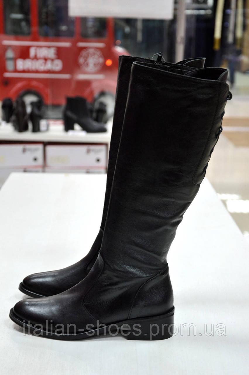 Сапоги черные кожаные Slash к.365