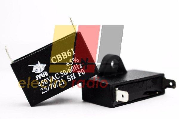 CBB-61     1,5 mkf - 450 VAC   (±5%)      37x14x24  JYUL   (Клеммы)