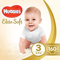 Подгузники Huggies Elite Soft 3 Mega 160 шт