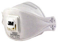 3М™ 9322+ Aura  Респиратор с клапаном от токсичной пыли, класс FFP2