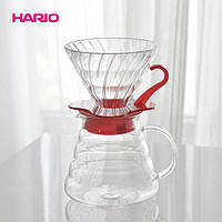 Подарочный набор: Пуровер Hario 02 стекло, Сервировочный чайник, Фильтры
