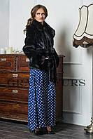 Женский полушубок из эко меха Tissavel (Франция) 091 черный 42-54рр