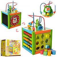 Универсальная игрушка для малышей для развития - Сортер, счеты, часы, доска для рисования MD 1060