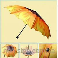 Зонт подсолнух, купить зонт яркий, купить яркий женский зонт, купить Зонт  Осень, зонты купить недорого, купить зонт, оригинальные зонты, зонт от