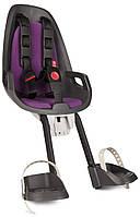 Велокресло детское HAMAX Observer переднее чёрное/фиолетеовое