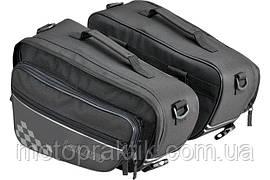 Louis Saddlebags 2X15 L, Black  Мотосумки боковые текстильные