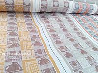 """Льняная ткань для полотенец """"Кофе"""" (шир. 207 см)"""