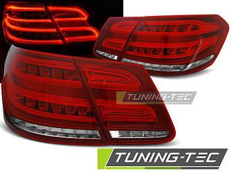 Фонари задние тюнинг оптика стопы Mercedes Benz W212 красно-белые