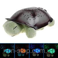 ТОП ВЫБОР! Проектор звездного неба черепашка Nighttime Turtle - 1000211 - ночник, светильник черепаха, черепашка со звуком, игрушка черепаха