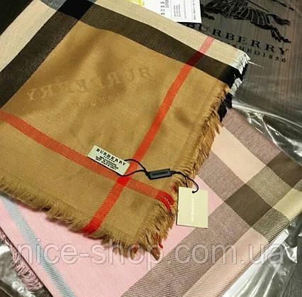 Платок Burberry карамель, фото 3