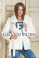 Женский полушубок из эко меха Tissavel (Франция) 094 белый 42-54рр