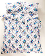Постельное белье Lotus Ranforce - Loise V1 синее полуторное