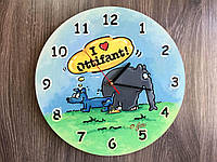 Цветные хендмейд часы из дерева «Слоник Оттифантен», фото 1