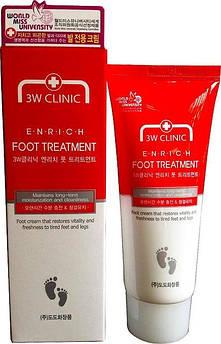 Восстанавливающий крем для уставших ног3W Clinic Enrich Foot Treatment