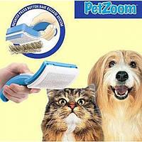 Щетка для вычесывания шерсти Pet Zoom - 5000331 - для кошек щетка, расческа для жиотных, триммер для собак, щетка для животных, вычесать шерсть,