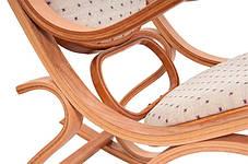 Кресло качалка PBT Group светлое ткань точки, фото 2