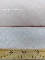 Ткань Лен с хлопком в горошек (шир. 150см)