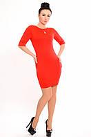"""Платье с открытой спиной """"Натали"""", красный"""