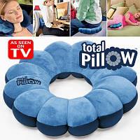 ТОП ВЫБОР! Подушка трансформер Total Pillow - 1000404 - Total Pillow Тотал Пиллоу Подушка трансформер, подушка 4 в 1, дорожня подушка для шиї, подушка