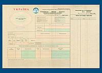 Дорожный лист грузового автомобиляФ №1 (международный)