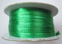 Лента атлас 0,3 см зеленая. Заказ от 10 м