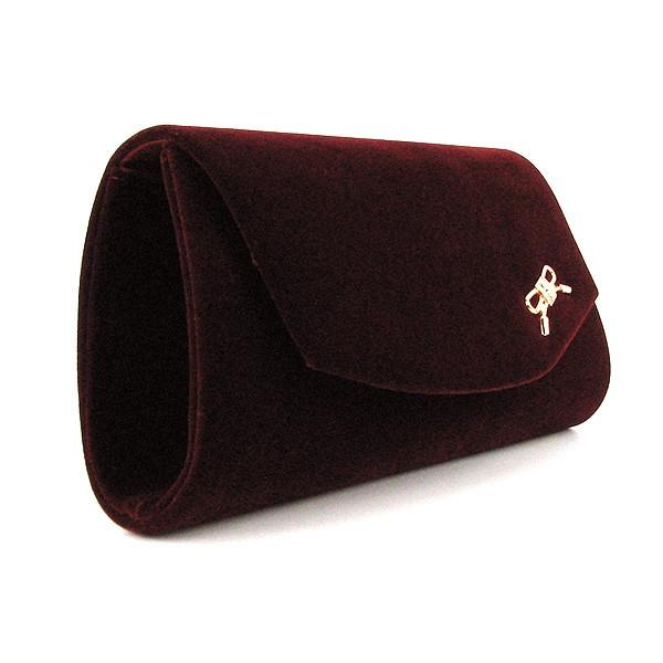 d668cb7518c8 Бордовый велюровый вечерний клатч rh-103232bor женский на цепочке - Интернет  магазин сумок SUMKOFF -