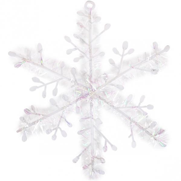 Украшение «Снежинка» белая 11 см 997-11